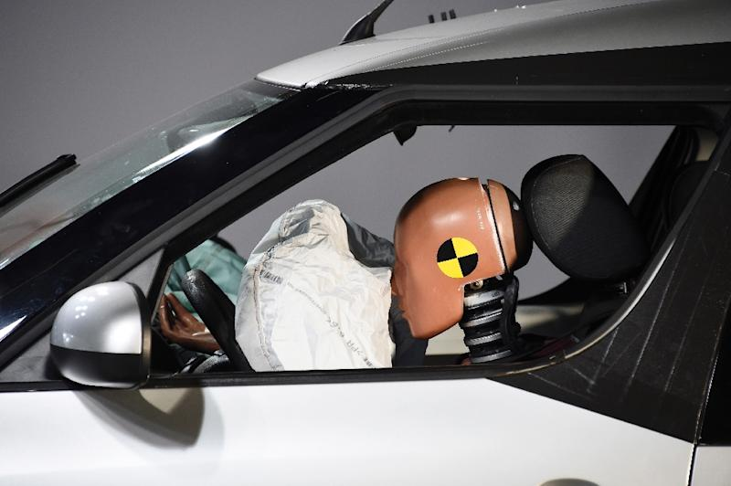 Airbags contain a chemical propellant which can inflate a bag within 0.0005 seconds