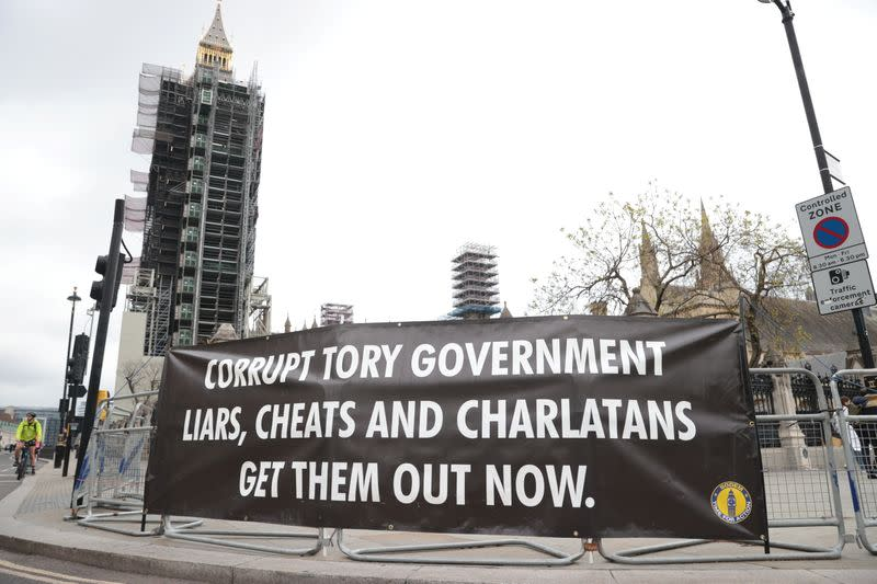 Anti-Brexit protesters demonstrate in Westminster