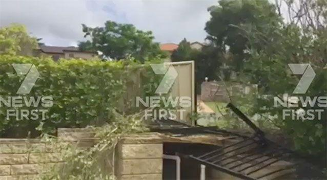 The backyard might need some redecorating. Source: 7 News