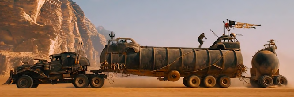 THE WAR RIG: PRIME MOVER INC. TANKER AND BALL PIG-TRAILER from Mad Max Fury Road