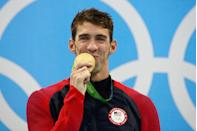 <p>Phelps' oldest son, Boomer, watched as he was awarded his 28th Olympic medal and 23rd gold medal. After his performance at the 2016 Summer Games, the swimmer officially became the most decorated Olympian of all time. </p>