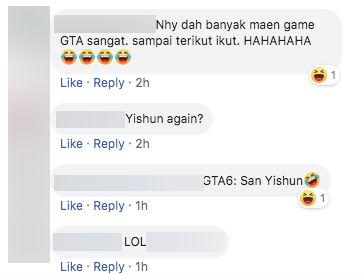 Facebook comments on viral video of car driving off the road in Yishun.