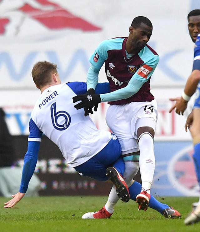 West Ham injury crisis plunged to new low after Pedro Obiang stretchered off at Wigan