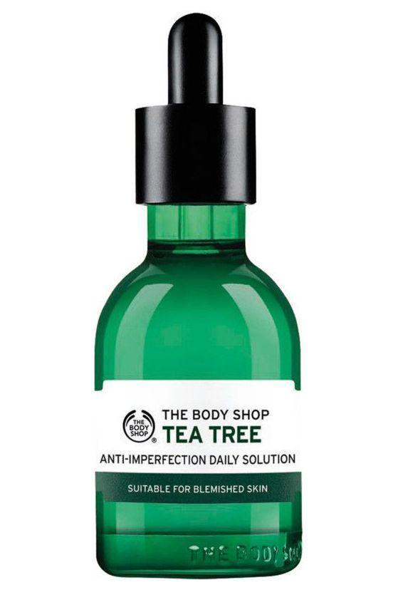 "<p><strong>The Body Shop</strong></p><p>ulta.com</p><p><strong>$15.40</strong></p><p><a href=""https://go.redirectingat.com?id=74968X1596630&url=https%3A%2F%2Fwww.ulta.com%2Ftea-tree-anti-imperfection-daily-solution%3FproductId%3DxlsImpprod14621267&sref=https%3A%2F%2Fwww.marieclaire.com%2Fbeauty%2Fg35888853%2Facne-spot-treatment%2F"" rel=""nofollow noopener"" target=""_blank"" data-ylk=""slk:SHOP IT"" class=""link rapid-noclick-resp"">SHOP IT </a></p><p>FYI: Tea tree oil is a natural antiseptic that does amazing things when applied to a blemish. This lightweight serum penetrates deep into the pores to extract impurities and ward off bacteria from forming. The result is a fresh and renewed glowing appearance. </p>"