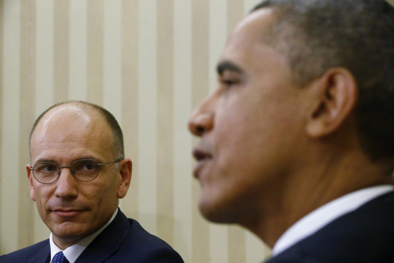 Obama and Letta buck up each other over economies