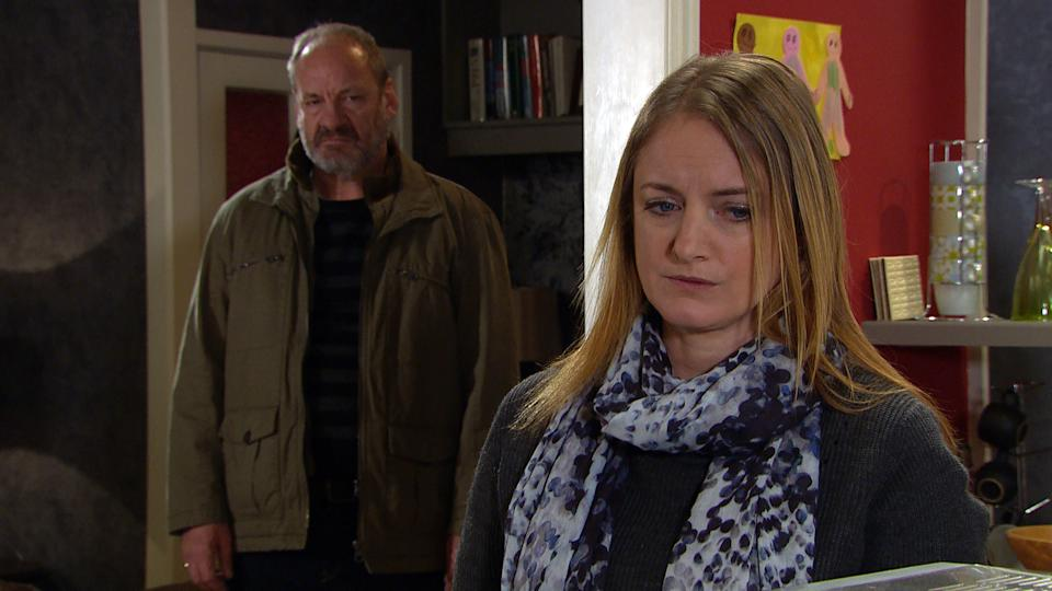 FROM ITV  STRICT EMBARGO  Print media - No Use Before Tuesday 16th February 2021 Online Media - No Use Before 0700hrs  Tuesday 16th February 2021  Emmerdale - Ep 8978  Wednesday 24th February 2021  Juliette [AMELIA CURTIS] suggests she and Nicola King [NICOLA WHEELER] meet and talk woman to woman.. Their meeting is going well until theyÕre interrupted by Jimmy King [NICK MILES] home from work unexpectedly. He is fuming to see Juliette in the house and with Juliette soon gone, Jimmy tells Nicola he wonÕt be able to forgive her if Juliette takes Carl from the familyÉ..   Picture contact David.crook@itv.com   This photograph is (C) ITV Plc and can only be reproduced for editorial purposes directly in connection with the programme or event mentioned above, or ITV plc. Once made available by ITV plc Picture Desk, this photograph can be reproduced once only up until the transmission [TX] date and no reproduction fee will be charged. Any subsequent usage may incur a fee. This photograph must not be manipulated [excluding basic cropping] in a manner which alters the visual appearance of the person photographed deemed detrimental or inappropriate by ITV plc Picture Desk. This photograph must not be syndicated to any other company, publication or website, or permanently archived, without the express written permission of ITV Picture Desk. Full Terms and conditions are available on  www.itv.com/presscentre/itvpictures/terms