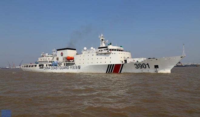 Chinese coastguard cutter the Haijing 3901 has returned to disputed waters in the South China Sea. Photo: Handout