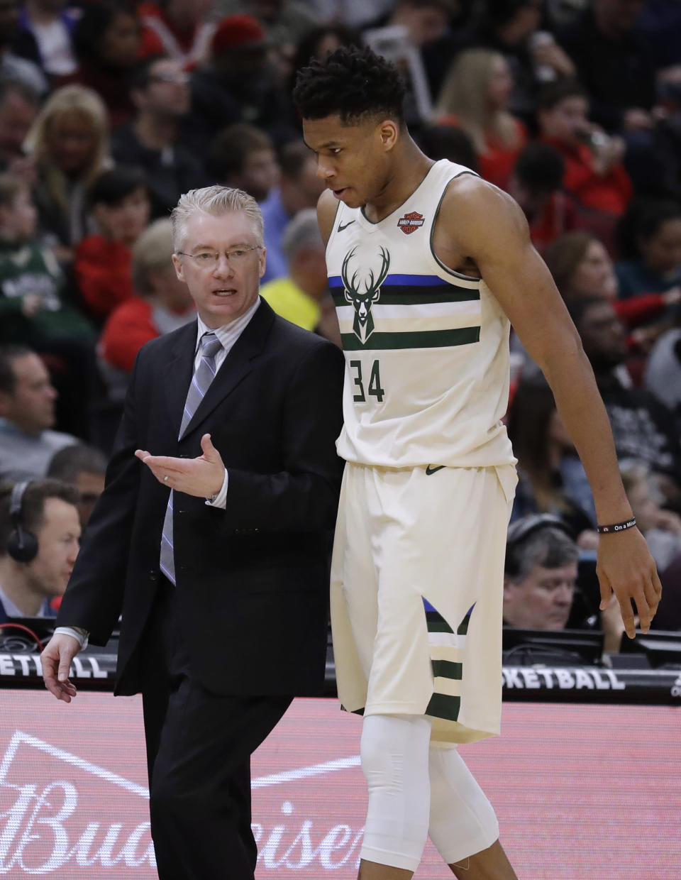 Interim Bucks head coach Joe Prunty and the emergence of Giannis Antetokounmpo as an MVP candidate will both be new for Parker. (AP Photo/Nam Y. Huh)