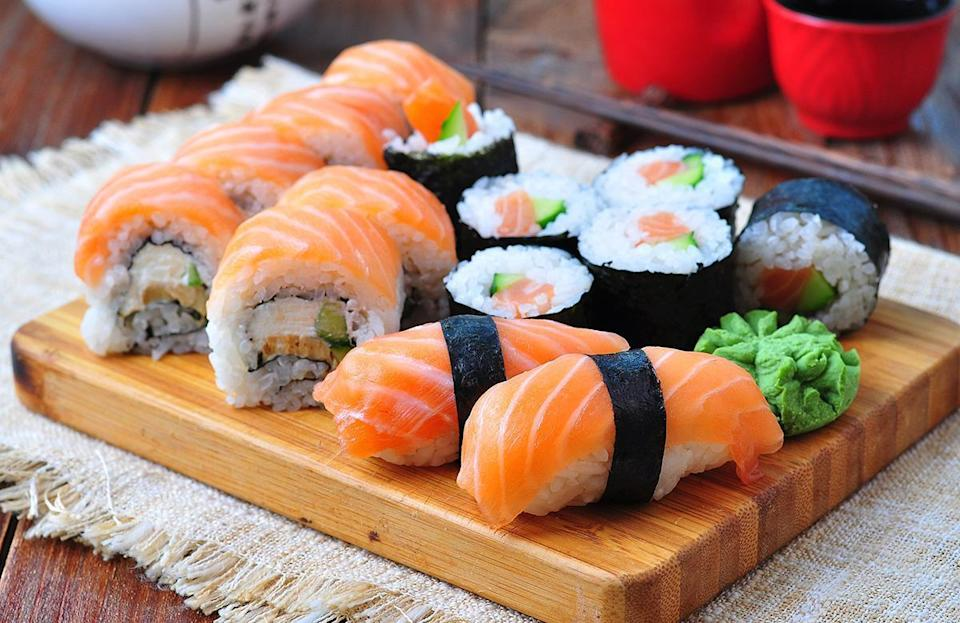 """<p>Even if you're getting it from <a href=""""https://www.thedailymeal.com/eat/best-sushi-restaurant-every-state?referrer=yahoo&category=beauty_food&include_utm=1&utm_medium=referral&utm_source=yahoo&utm_campaign=feed"""" rel=""""nofollow noopener"""" target=""""_blank"""" data-ylk=""""slk:the best sushi restaurant in your state"""" class=""""link rapid-noclick-resp"""">the best sushi restaurant in your state</a>, sushi is one of the absolute worst foods that you can bring to a barbecue because it needs to be eaten quickly, and served cold and fresh. That makes it less than optimal for summer soirees.</p>"""