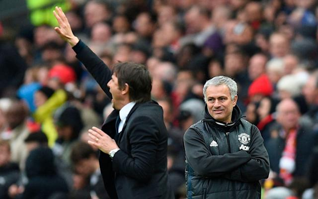 """What is it? It is Jose Mourinho vs Antonio Conte round two as Chelsea travel to Manchester United in the Premier League. When is it? It is the second match on Sunday afternoon, sandwiched between Crystal Palace vs Tottenham Hotspur and the Carabao Cup final between Manchester City and Arsenal. What time is kick-off? The game at Old Trafford gets under way at 2.05pm. What TV channel is it on? Live coverage follows the conclusion of Palace vs Spurs at 2pm on Sky Sports Premier League and Sky Sports Main Event. Alternatively, you can bookmark this page and return on matchday to follow every kick with our live blog. Buy a NOW TV Sky Sports Day Pass for just £7.99 and stream Man Utd vs Chelsea live from 2.05pm this Sunday What is the latest team news? Mourinho is still short of defensive options with Phil Jones, Marcos Rojo and Daley Blind sidelined with injury, although Eric Bailly's return is a welcome boost. Paul Pogba, Antonio Valencia, Ander Herrera and Marcus Rashford all sat out the FA Cup victory at Huddersfield but returned to the squad for the Champions League trip to Sevilla. Pick your Man Utd XI to face Chelsea Conte left Alvaro Morata and Olivier Giroud on the bench for the 1-1 draw with Barcelona in the Champions League, electing to play Eden Hazard as a false nine. Both centre forwards are in contention to start at Old Trafford but Ross Barkley remains a serious doubt with a hamstring injury. Out of favour midfielder Tiemoue Bakayoko was not in the squad for Barcelona while David Luiz remained absent. Pick your Chelsea XI to face Man Utd What has been said? Conte on Mourinho: """"I think he has to see himself in the past - maybe he was speaking about himself in the past. Maybe, sometimes, I think that someone forgets what's said in the past, which is his behaviour. """"Sometimes I think there is, I don't know the name, but demenza senile... when you forget what you do in the past."""" Mourinho on Conte: """"What never happened to me - and will never happen - is to be """