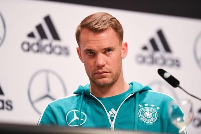 Germany's goalkeeper Manuel Neuer says the team didn't mince words during a crisis meeting ahead of a crucial matchup against Sweden. (Getty Images)