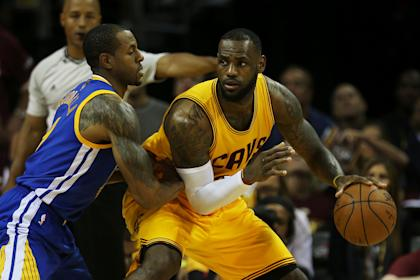 Andre Iguodala will open Game 4 on LeBron James rather than picking him up off the bench. (Mike Ehrmann/Getty Images)