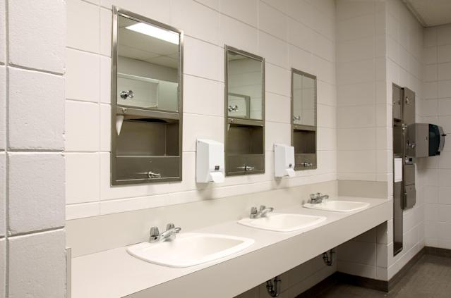 File photo of school bathroom :Shutterstock