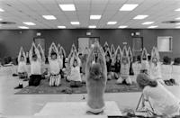 <p>It wasn't until the '70s that New Age followers began practicing the centuries old spiritual exercise of yoga. </p>