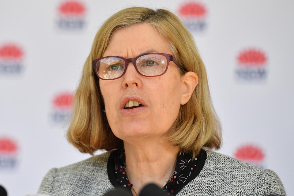 Pictured is NSW Chief Health Officer Kerry Chant.