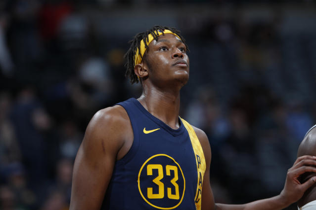 Pacers center Myles Turner still has some time to break out this season. (AP)