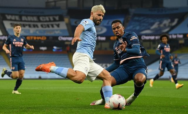 Sergio Aguero played 65 minutes for Manchester City