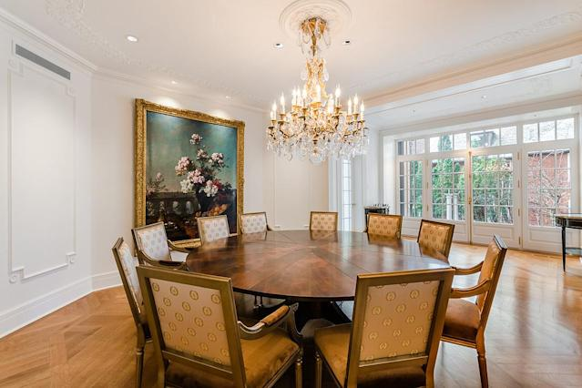 <p>The unique dining room is octagonal, which will be a talking point at any party. (Listing via <span>Sotheby's</span>) </p>