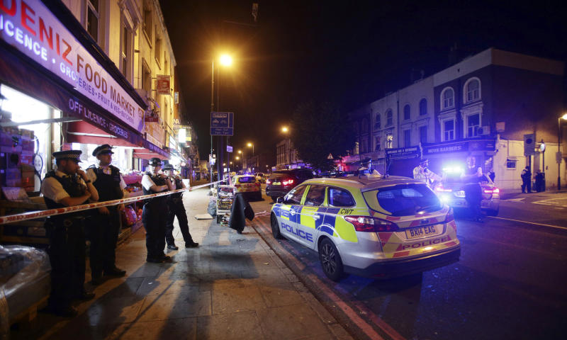 Van hits pedestrians in London, 'number of casualties' reported