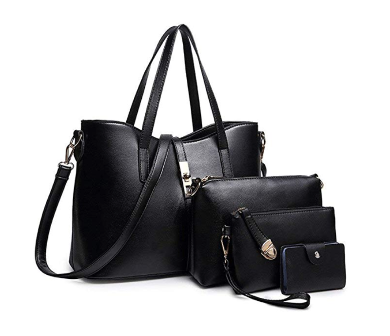 Y2L 4-Piece Leather Tote Set. (Photo: Amazon)