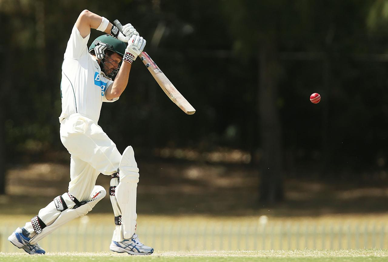 SYDNEY, AUSTRALIA - SEPTEMBER 29:  Ed Cowan of Tasmania bats during day four of the Sheffield Shield match between the New South Wales Blues and the Tasmanian Tigers at Bankstown Oval on September 29, 2012 in Sydney, Australia.  (Photo by Mark Metcalfe/Getty Images)