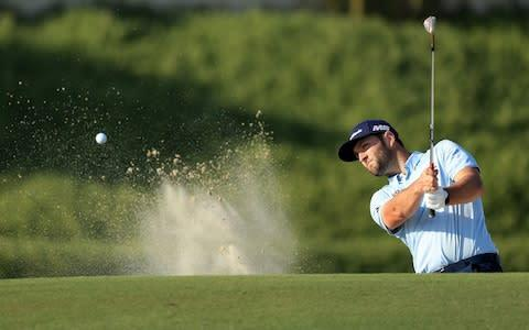 <span>Rahm has a share of the DP World Tour Championship lead going into Sunday</span> <span>Credit: GETTY IMAGES </span>