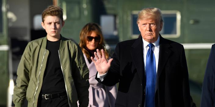 The Maryland school where Barron Trump attends will remain closed until October due to a Montgomery County, Maryland mandate.