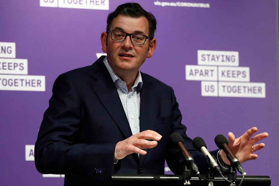 Dan Andrews prompted anger after delaying an easing of restrictions on Sunday. Source: Getty