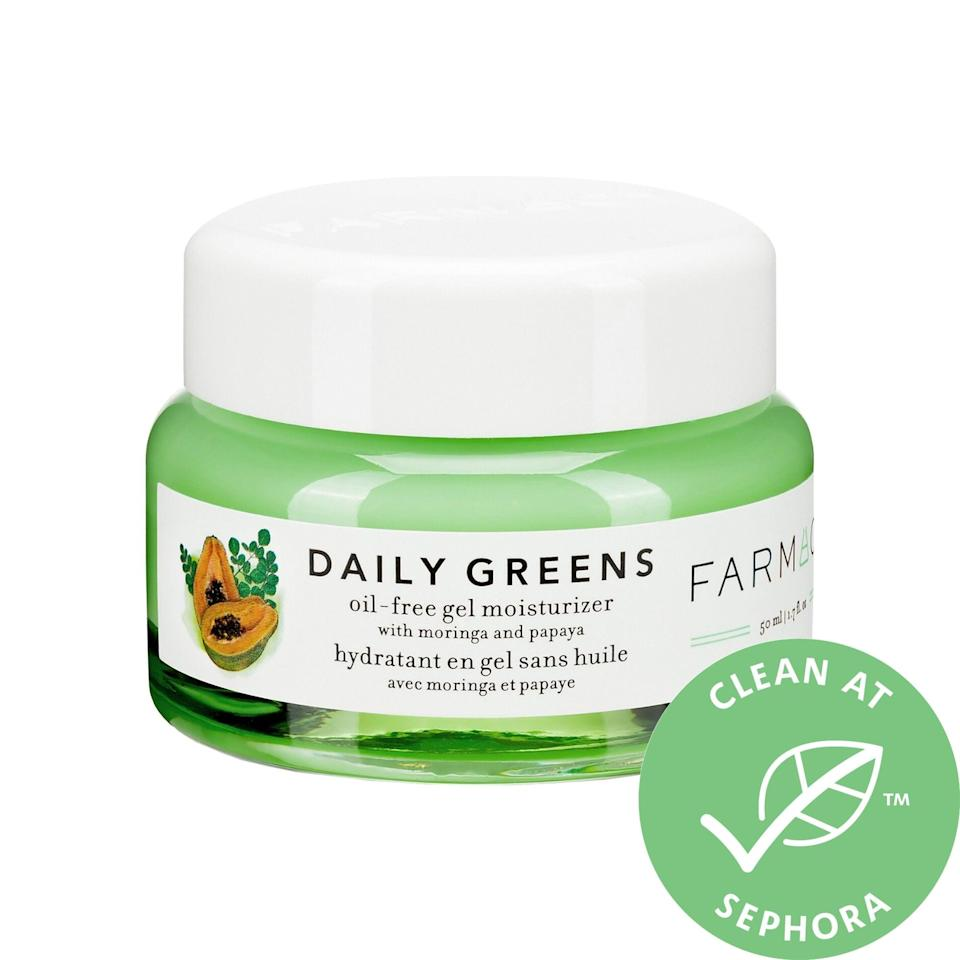<p><span>Farmacy Daily Greens Oil-Free Gel Moisturizer With Moringa and Papaya</span> ($38) helps clear pores and reduces shine anytime or if your skin gets more oily in summer months. Plus, there's a big dose of plant-based nutrients that remove impurities, gently exfoliate, and naturally lock in moisture.</p>