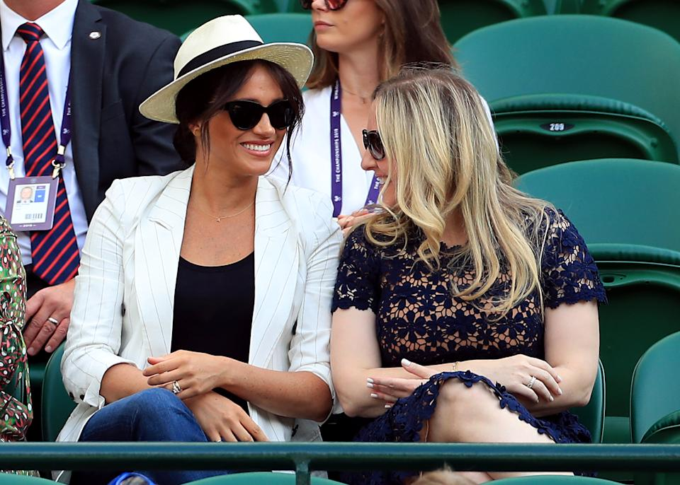 Meghan watched Serena Williams at Wimbledon. [Photo: Getty]