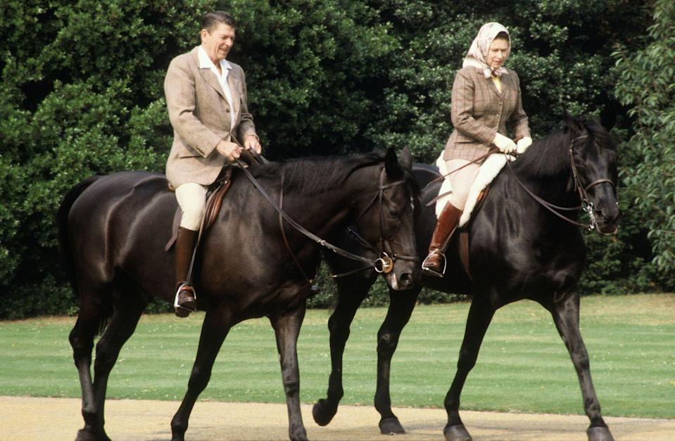 <p>This series of photos of Reagan and the Queen on horseback would go on to become iconic and emblematic of the special relationship between the United States and the UK. </p>