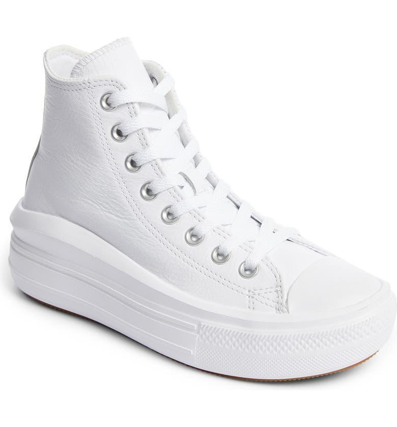 """<h2>Converse Chuck Taylor All Star Move Platform High Top Sneaker</h2><br>""""I've had my eye (and so has all of Instagram/TikTok) on chunky platform Converse recently and have heard some mixed reviews. So, if I'm going to buy a pair I definitely want to snag them on sale — if they're uncomfortable, at the very least I'll know I scored the best price! The all-white can go with practically any outfit and effortlessly transition from summer to fall. This pair is definitely an item to watch."""" <em>— Alexandra Polk, Associate Lifestyle Market Writer</em><br><br><em>Shop</em> <strong><em><a href=""""https://www.nordstrom.com/brands/converse--1349?"""" rel=""""nofollow noopener"""" target=""""_blank"""" data-ylk=""""slk:Converse"""" class=""""link rapid-noclick-resp"""">Converse</a></em></strong><br><br><strong>Converse</strong> Chuck Taylor® All Star® Move Platform High Top Sneaker, $, available at <a href=""""https://go.skimresources.com/?id=30283X879131&url=https%3A%2F%2Fwww.nordstrom.com%2Fs%2Fconverse-chuck-taylor-all-star-move-platform-high-top-sneaker-women%2F5915681"""" rel=""""nofollow noopener"""" target=""""_blank"""" data-ylk=""""slk:Nordstrom"""" class=""""link rapid-noclick-resp"""">Nordstrom</a>"""