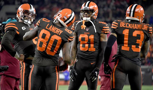 An ugly late incident marred the Cleveland Browns' win over the Pittsburgh Steelers in the NFL.