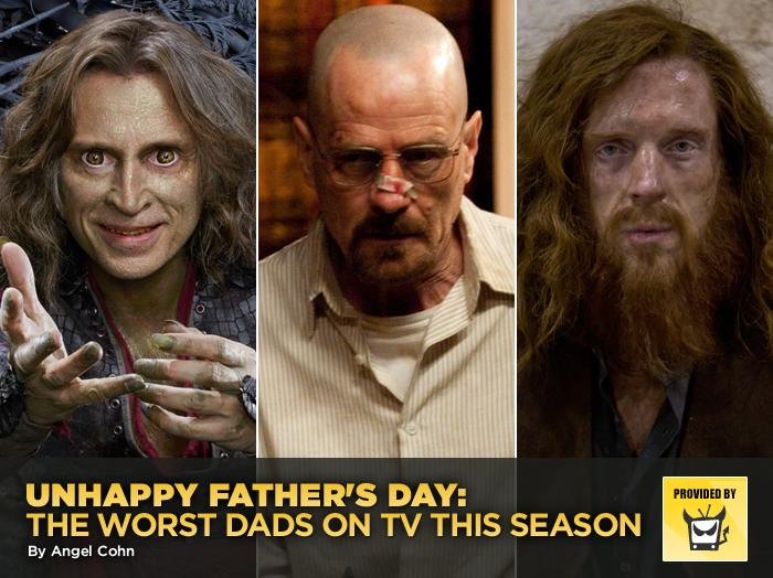 "<p>Instead of honoring the great dads on TV (like the adorably weird Phil Dunphy or the sweet Danno) this Father's Day weekend, we decided to just be grateful that we aren't the offspring of this season's 10 worst patriarchs. And believe it or not, only two guys from last time made this list, which means there were eight new terrible parents on TV in the past year.<span class=""st""><span>— </span><a style=""font-family:yui-tmp;"" href=""http://www.televisionwithoutpity.com/?__source=tw%7Cyhtv&par=yhtv"">Television Without Pity</a></span></p>"