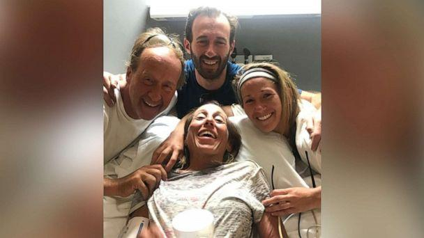 PHOTO: Sheryl Powell, 60, of Huntington Beach, is surrounded by her family in a hospital on July 15, 2019, after going missing for four days in California. (Courtesy Powell Family)
