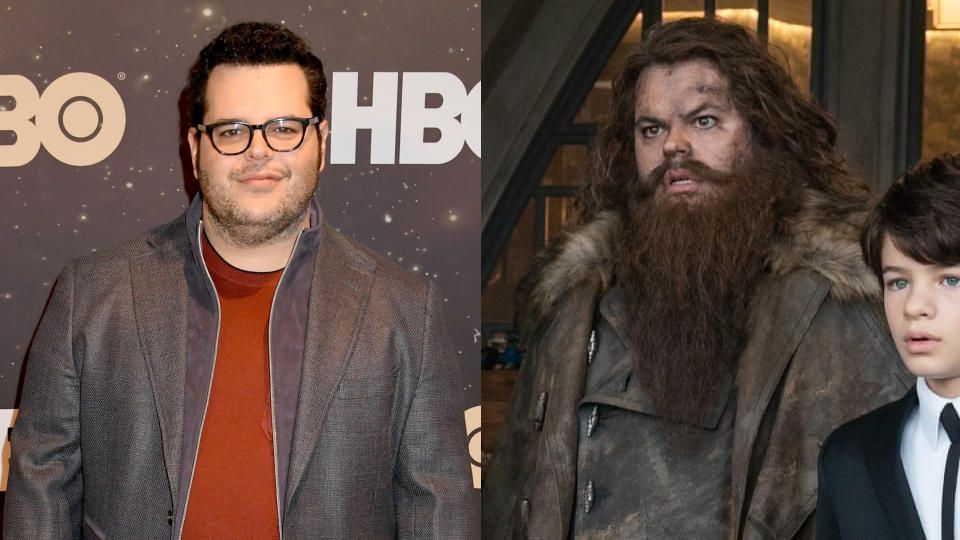 """More people probably know him as a singing snowman than as his human form, but Josh Gad changed himself in a big way for <a href=""""https://uk.movies.yahoo.com/artemis-fowl-set-visit-disney-blockbuster-franchise-160059711.html"""" data-ylk=""""slk:children's book adaptation Artemis Fowl;outcm:mb_qualified_link;_E:mb_qualified_link;ct:story;"""" class=""""link rapid-noclick-resp yahoo-link"""">children's book adaptation <em>Artemis Fowl</em></a>. As the flatulent dwarf Mulch Diggums, he sports a massive beard and a bushy head of hair as well as a bulky coat. A long way from Olaf. (Credit: Jeff Kravitz/Getty/WarnerMedia/Disney)"""
