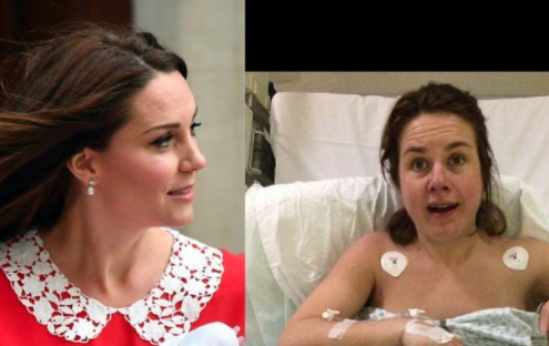 Mums are sharing how they looked seven hours after giving birth in comparison