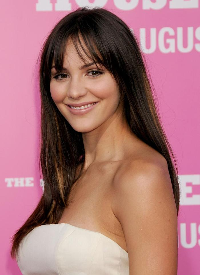 """<a href=""""http://movies.yahoo.com/movie/contributor/1809807896"""">Katherine McPhee</a> at the Los Angeles Premiere of <a href=""""http://movies.yahoo.com/movie/1809921361/info"""">The House Bunny</a> - 08/20/2008"""