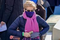 <p>While there were many symbolic and potentially overlooked fashion nods worn by politicians past and present at the ceremony, one which was missed by many was Senator Elizabeth Warren's pink scarf.</p><p>The bottom of the scarf was emblazoned with the Planned Parenthood logo, thus demonstrating her support for the organisation which suffered a torrid four years under the Trump administration.</p>
