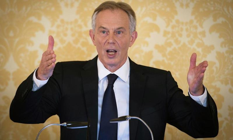 Tony Blair speaking after the publication of the Chilcot report into the Iraq war.