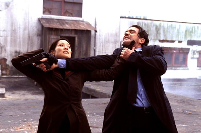 lucy liu and antonio banderas in ballistic ecks vs. sever