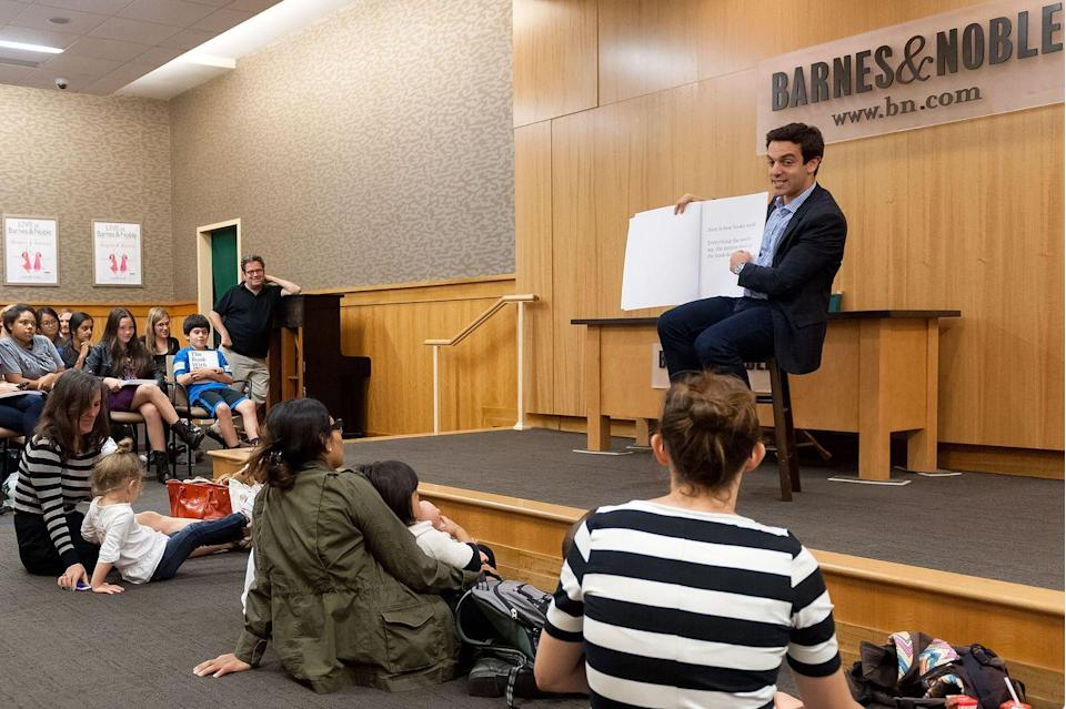 """<p>With the kind of ambition that would make Ryan Howard proud, B.J. Novak released a collection of stories entitled <em>One More Thing</em>, and a children's book called <em>The Book With No Pictures,</em> in 2014. The later is quite exactly what the title says it would be—there are no illustrations, no author's photo, and even a debate whether the traditional logo of Penguin Books could appear on the spine, the Emmy nominee told to the <em><a href=""""https://lareviewofbooks.org/article/interview-pictures/"""" rel=""""nofollow noopener"""" target=""""_blank"""" data-ylk=""""slk:Los Angeles Review of Books"""" class=""""link rapid-noclick-resp"""">Los Angeles Review of Books</a></em> at the time. </p><p>B.J. explained to the publication that when he was growing up, reading for him was something that was rebellious, independent, and empowering, and he wanted to be able to convey that spirit to his young readers. """"For a young kid who doesn't know if books are boring, or interesting, or a chore, or homework, to frame it right away as something that is always on their side,"""" he said. """"That reading is a fun, rebellious tool that they will always have. They can interpret this code and use it to their own advantage.""""</p><p>At least with children's books, <em>the Office</em> star seems to have cracked the code. According to its <a href=""""https://thebookwithnopictures.com/2015/10/the-book-with-no-pictures-is-currently-celebrating-55-consecutive-weeks-on-the-new-york-times-bestseller-list/"""" rel=""""nofollow noopener"""" target=""""_blank"""" data-ylk=""""slk:site"""" class=""""link rapid-noclick-resp"""">site</a>, <em>The Book With No Pictures</em> spent 55 consecutive weeks on <em>the New York Times</em> bestseller list.</p><p><a class=""""link rapid-noclick-resp"""" href=""""https://www.amazon.com/Book-No-Pictures-B-Novak/dp/0803741715/ref=sr_1_1?crid=ES3ZS3W5T1CB&dchild=1&keywords=the+book+with+no+pictures&qid=1599798484&s=books&sprefix=the+book+with+no+%2Cstripbooks%2C159&sr=1-1&tag=syn-yahoo-20&ascsubtag=%5Bartid%7C2140.g.33987725%5"""