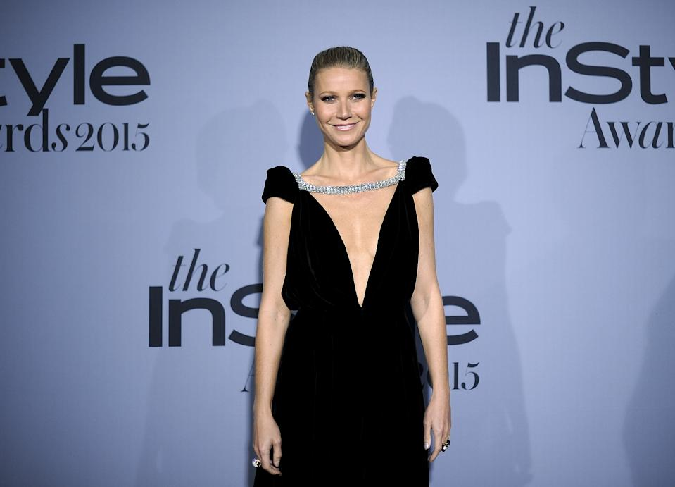Honoree Gwyneth Paltrow poses during the InStyle Awards at the Getty Center in Los Angeles, California October 26, 2015. REUTERS/Kevork Djansezian