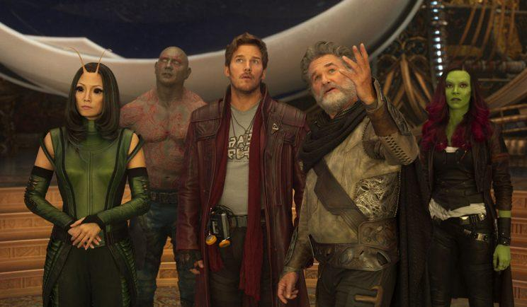Kurt Russell and the Guardians of The Galaxy - Credit: Marvel