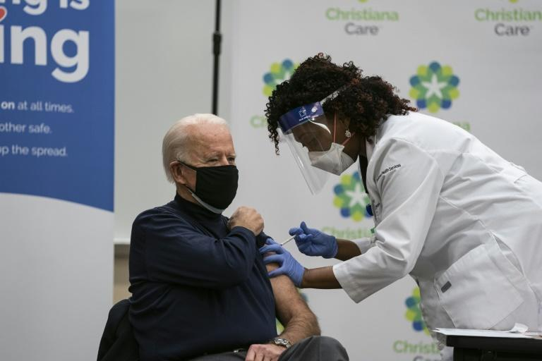 US President-elect Joe Biden gets his Covid-19 vaccination