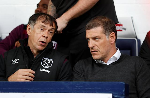<p>West Ham United manager Slaven Bilic and assistant manager Nikola Jurcevic Action Images via Reuters/Andrew Boyers </p>