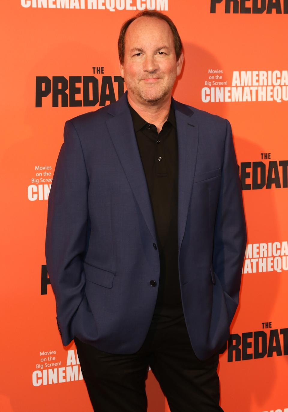 """HOLLYWOOD, CA - SEPTEMBER 12:  Screenwriter  Fred Dekker attends the screening of 20th Century Fox's """"The Predator"""" at the Egyptian Theatre on September 12, 2018 in Hollywood, California.  (Photo by Paul Archuleta/FilmMagic)"""