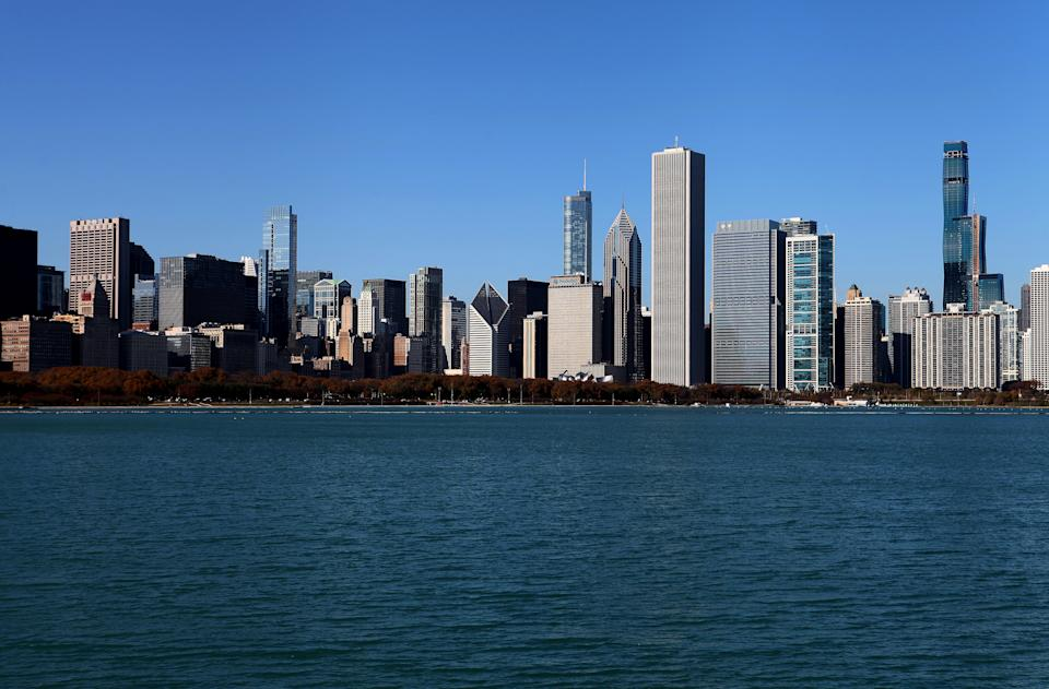 Partial view of the Chicago skyline, photographed from outside the Adler Planetarium in Chicago, Illinois on November 5, 2019. (Photo: Raymond Boyd/Getty Images)