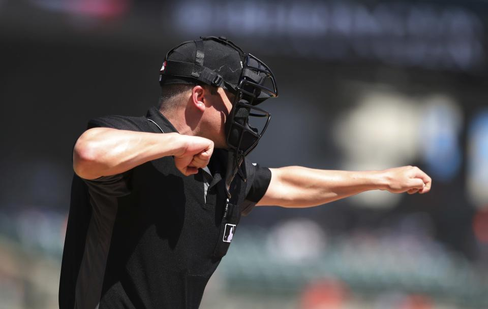 Two umpires in the Mexican League made the worst baseball call you'll ever see. (AP Photo)