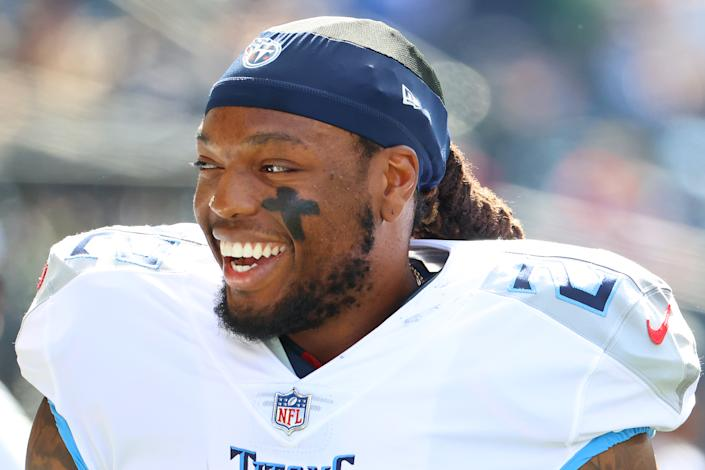 Derrick Henry with the Titans.
